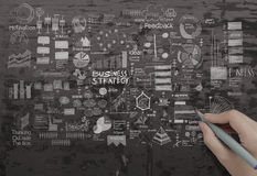 Hand drawing creative business strategy Royalty Free Stock Photo
