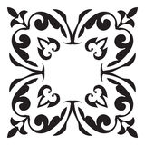 Hand drawing decorative tile frame. Italian majolica style Stock Photography