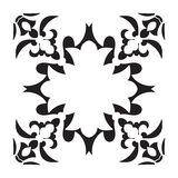 Hand drawing decorative tile frame. Italian majolica style Royalty Free Stock Photo