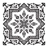 Hand drawing decorative tile pattern. Italian majolica style Royalty Free Stock Photos