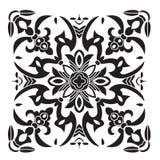 Hand drawing decorative tile pattern. Italian majolica style Royalty Free Stock Photo