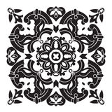 Hand drawing decorative tile pattern. Italian majolica style Royalty Free Stock Photography
