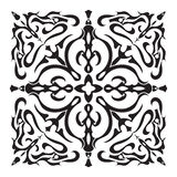 Hand drawing decorative tile pattern. Italian majolica style Stock Photo