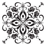 Hand drawing decorative tile pattern. Italian majolica style Stock Images
