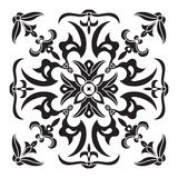 Hand drawing decorative tile pattern. Italian majolica style Royalty Free Stock Images