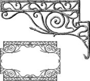 Hand drawing of a decorstive architectural element. Hand drawing of a vintage architectural detail in shape of ornamental corner vector illustration