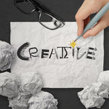 Hand drawing design word CREATIVE Royalty Free Stock Photos