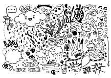 Hand drawing Doodle elements Stock Photo