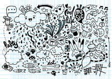 Hand drawing Doodle elements Stock Photography