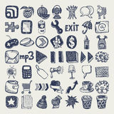 49 hand drawing doodle icon set Stock Image
