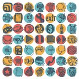 49 hand drawing doodle icon set. Vector illustration stock illustration