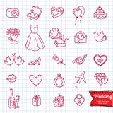 Hand drawing doodle icon set, Stock Images