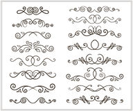 Hand-drawing doodles border Royalty Free Stock Photos
