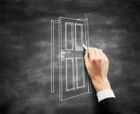 Hand drawing door Stock Photo
