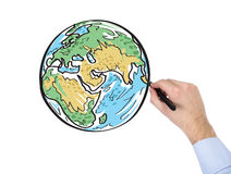 Hand drawing earth Stock Photo