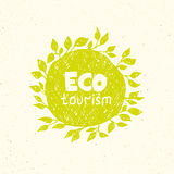 Hand drawing eco tourism logo templates. Royalty Free Stock Photos