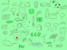 Hand drawing ecology Stock Image