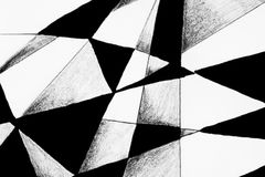 Hand drawing of filled lines. Royalty Free Stock Photo