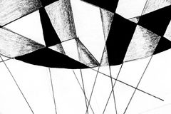 Hand drawing of filled lines. Royalty Free Stock Photography