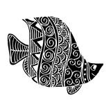 Hand drawing fish. Stock Images