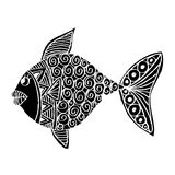 Hand drawing fish. Royalty Free Stock Photography