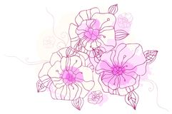 Hand drawing floral background Royalty Free Stock Photos