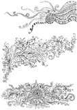 Hand drawing floral element Royalty Free Stock Image
