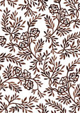 Hand-drawing floral ornament Royalty Free Stock Photo