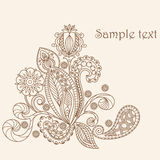 Hand drawing floral pattern Stock Photos