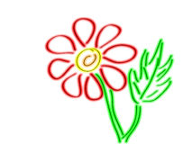 Hand drawing flower Royalty Free Stock Photo