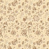 Hand-drawing flower pattern Royalty Free Stock Photos