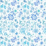 Hand-drawing flower pattern Stock Image