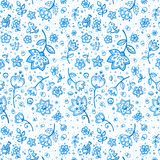 Hand-drawing flower pattern Royalty Free Stock Photography