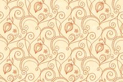 Hand-drawing flower pattern Stock Images
