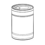 Hand drawing Food Can-Vector Illustration. Hand drawn sketch of Food Can isolated, Black and White simple line Vector Illustration for Coloring Book - Line Drawn Royalty Free Stock Images