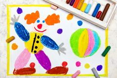 Hand drawing: Friendly smiling clown