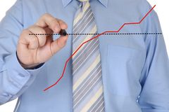 Hand drawing graph Royalty Free Stock Image