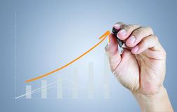 Hand drawing a graph Stock Image