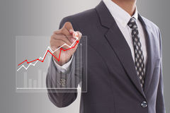 hand drawing a graph Royalty Free Stock Images