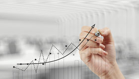 Hand drawing graph chart Stock Image