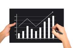 Hand drawing graph stock photos