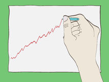 Hand drawing graph Stock Image