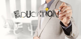Hand drawing graphic design EDUCATION word Stock Photo
