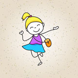 Hand drawing happy kids. Hand drawing cartoon happy kids vector eps 10 royalty free illustration