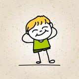 Hand drawing happy kids Stock Photo