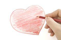 Hand drawing heart Stock Image