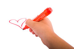 Hand drawing heart Royalty Free Stock Images