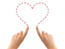 Free Hand Drawing Heart Stock Image - 5993351