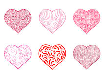Hand Drawing Heart Set Royalty Free Stock Photo