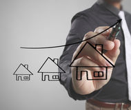Hand drawing a house Stock Images